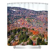View From Devil's Courthouse 3 Shower Curtain
