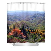 View From Devil's Courthouse Mountain Shower Curtain