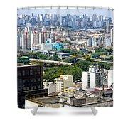 View From Edificio Martinelli 2 - Sao Paulo Shower Curtain
