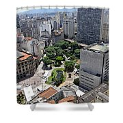 View From Edificio Martinelli 3 - Sao Pulo Shower Curtain