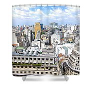 View From Edificio Martinelli - Sao Paulo Shower Curtain