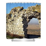 View From Enisala Fortress 2 Shower Curtain