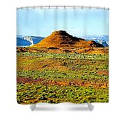 View From Horseshoe Bend Overlook Shower Curtain