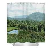 View From Kent St. Shower Curtain