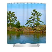 View From Killarney Mountain Lodge Shower Curtain