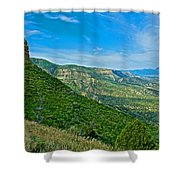 View From Knife Edge Road Overlooking Montezuma Valley In Mesa Verde National Park-colorado   Shower Curtain