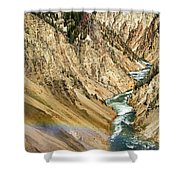 View From Lower Falls Of The Yellowstone River  Shower Curtain