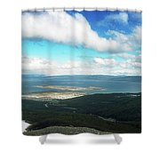 View From Martial Glacier, Ushuaia Shower Curtain