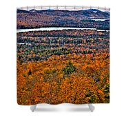 View From Mccauley Mountain Shower Curtain