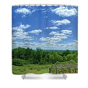 View From Monticello Shower Curtain