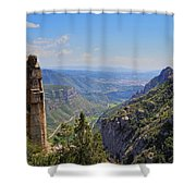 View From Montserrat Mountain Shower Curtain