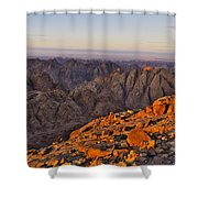 View From Mount Sinai Shower Curtain