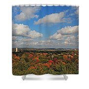 View From Mt Auburn Cemetery Tower Shower Curtain