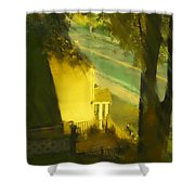 View From My Window On A Summer Afternoon  B-17 Shower Curtain
