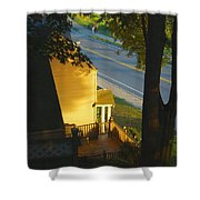 View From My Window On A Summer Afternoon  B-21 Shower Curtain