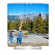 View From Near The Top Of Sentinel Dome In Yosemite Np-ca Shower Curtain