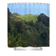View From Nepenthe In Big Sur Shower Curtain