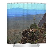 View From Parker Creek Canyon Shower Curtain