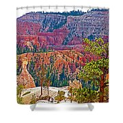 View From Queen's Garden Trail In Bryce Canyon National Park-utah Shower Curtain