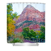 View From South Campground In Zion Np-ut Shower Curtain