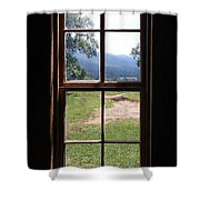 View From The Cabin Shower Curtain by Todd Blanchard