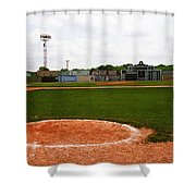 View From The Dugout Shower Curtain