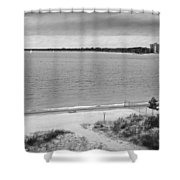 View From The Fort Gratiot Light House Shower Curtain