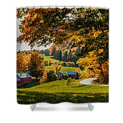 View From The Hill Shower Curtain