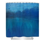 View From The Lake Shower Curtain
