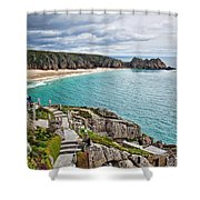 View From The Minack Theatre Shower Curtain