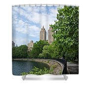 View From The Park West Side Shower Curtain