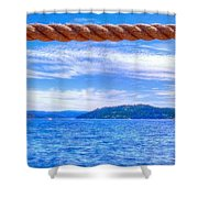 View From The Resort 6799 Shower Curtain