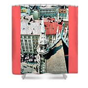 View From The Top Of Munich City Hall Shower Curtain