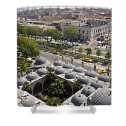 View From The Valens Aqueduct In Istanbul Shower Curtain