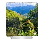 View From Trail To West Point Inn On Mount Tamalpais-california  Shower Curtain