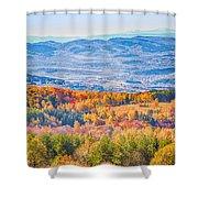 View From Vitosha Mountain Near Sofia City Shower Curtain