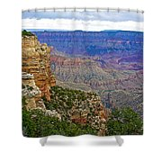 View From Walhalla Overlook On North Rim Of Grand Canyon-arizona  Shower Curtain