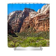 View From Weeping Rock Shower Curtain