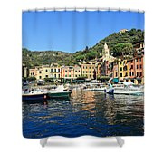 view in Portofino Shower Curtain