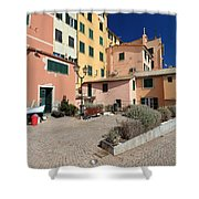 view in Sori Italy Shower Curtain