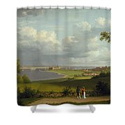 View North Of Kronborg Castle Shower Curtain