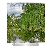 View Of A Botanical Garden, Krakow Shower Curtain