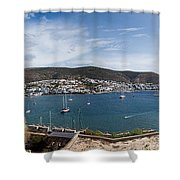 View Of A Harbor From A Castle, St Shower Curtain