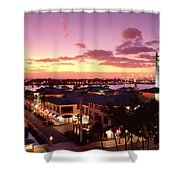 View Of Aloha Tower Shower Curtain