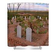 View Of Arizona From Boothill Cemetery Shower Curtain