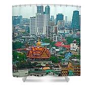 View Of Bangkok Buildings From Grand China Princess Hotel In Bangkok-thail Shower Curtain