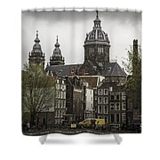 View Of Basilica Of St Nicholas Amsterdam Shower Curtain