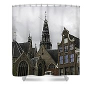 View Of Bell Tower Oude Kerk Amsterdam Shower Curtain