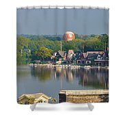 View Of Boathouse Row  Shower Curtain