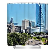 view of Charlotte North Carolina Shower Curtain